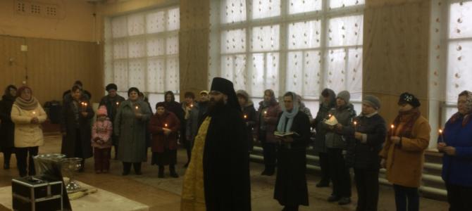 Молебен о здравии на месте где 60 лет назад был Храм