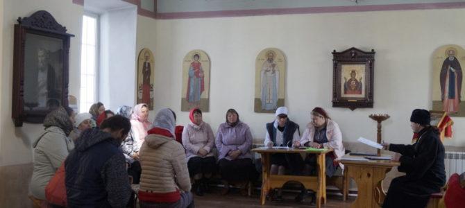 Рабочие встречи «приходского собрания» с настоятелем.