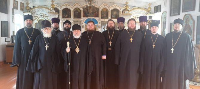 Очередное собрание благочинных Троицкой епархии.