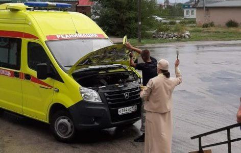 Освящение медицинского транспорта в день вмч. и целителя Пантелеимона